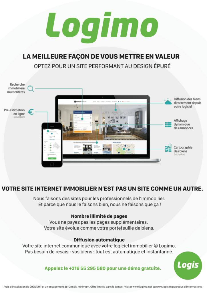 creation développement site web immobilier tunisie